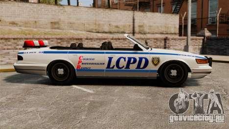 Кабриолет версия Police для GTA 4 вид слева