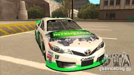 Toyota Camry NASCAR No. 18 Interstate Batteries для GTA San Andreas вид слева