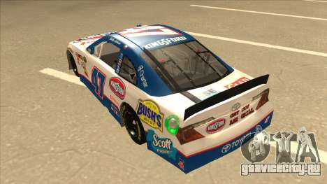 Toyota Camry NASCAR No. 47 Kingsford для GTA San Andreas вид сзади
