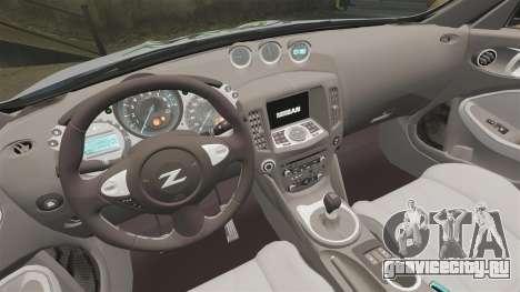 Nissan 370Z для GTA 4 вид изнутри