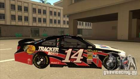 Chevrolet SS NASCAR No. 14 Mobil 1 Tracker Boats для GTA San Andreas вид сзади слева