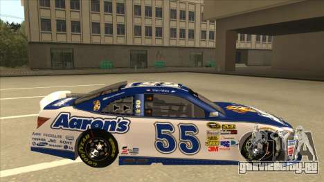 Toyota Camry NASCAR No. 55 Aarons DM white-blue для GTA San Andreas вид сзади слева