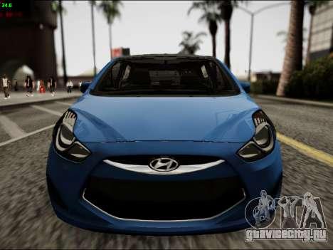 Hyundai ix20 для GTA San Andreas вид изнутри