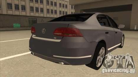 Volkswagen Passat 2.0 Turbo для GTA San Andreas вид справа