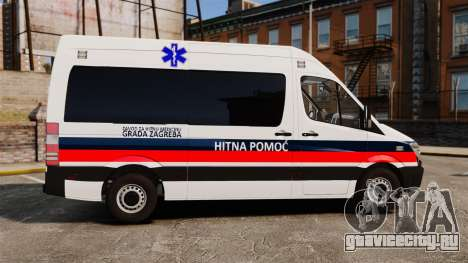Mercedes-Benz Sprinter Zagreb Ambulance [ELS] для GTA 4 вид слева
