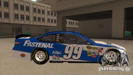 Ford Fusion NASCAR No. 99 Fastenal Aflac Subway для GTA San Andreas вид сзади слева