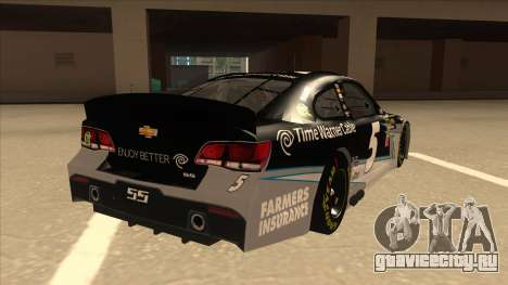 Chevrolet SS NASCAR No. 5 Time Warner Cable для GTA San Andreas вид справа