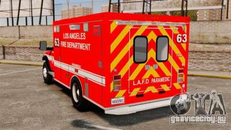 Dodge Ram 3500 2011 LAFD Ambulance [ELS] для GTA 4 вид сзади слева