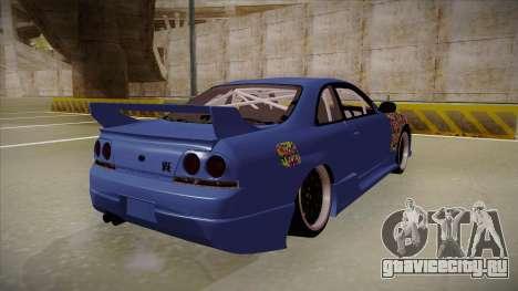 Nissan Skyline R33 JDM для GTA San Andreas вид справа