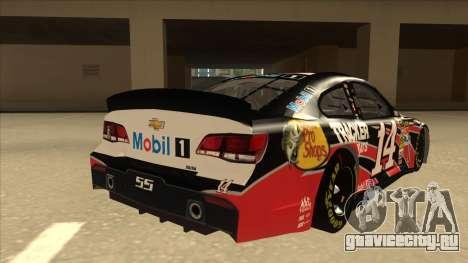 Chevrolet SS NASCAR No. 14 Mobil 1 Tracker Boats для GTA San Andreas вид справа