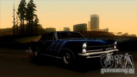 Pontiac Tempest LeMans GTO Hardtop Coupe 1965 для GTA San Andreas салон