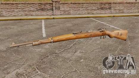 Магазинная винтовка Mauser Karabiner 98k для GTA 4 третий скриншот