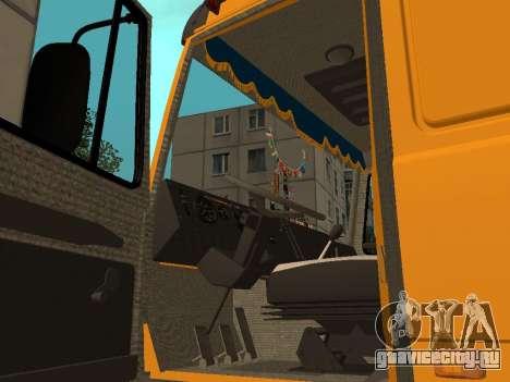 МАЗ 53366 для GTA San Andreas вид сзади