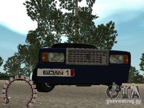 ВАЗ 2107 БПАN для GTA San Andreas вид сзади
