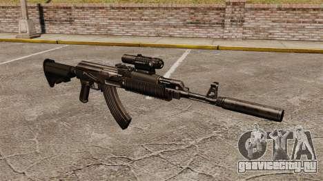Автомат АК-47 (тактический) для GTA 4
