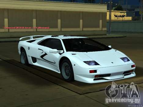 Lamborghini Diablo SV v2 для GTA San Andreas вид справа