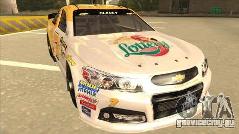 Chevrolet SS NASCAR No. 7 Florida Lottery для GTA San Andreas вид слева