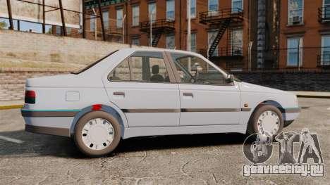 Peugeot 405 GLX Final для GTA 4 вид слева
