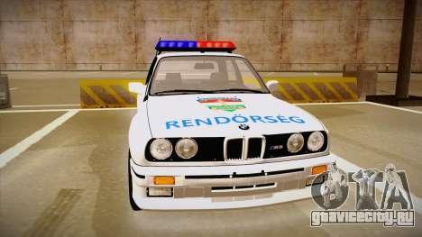 BMW M3 E30 Rendőrség для GTA San Andreas вид слева