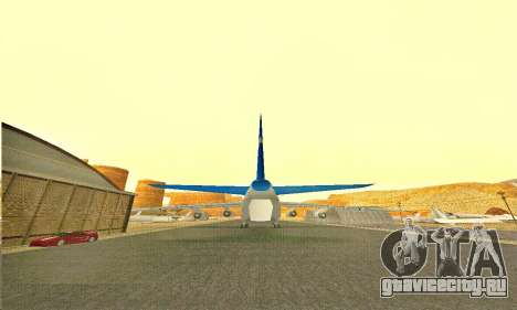Andromada GTA V для GTA San Andreas вид сзади слева