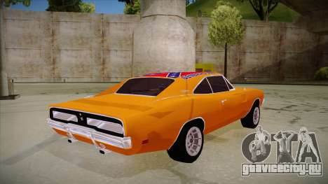 Dodge Charger 1969 (general lee) для GTA San Andreas вид справа