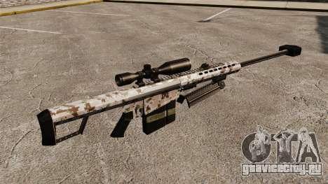Снайперская винтовка Barrett M82 v5 для GTA 4 второй скриншот