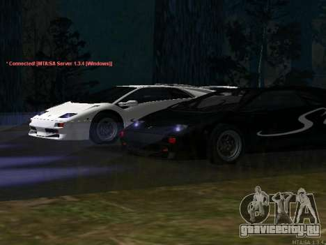 Lamborghini Diablo SV v2 для GTA San Andreas вид слева