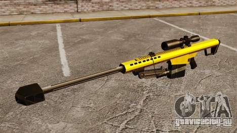 Снайперская винтовка Barrett M82 v3 для GTA 4 третий скриншот