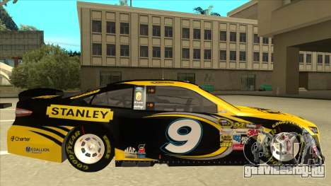 Ford Fusion NASCAR No. 9 Stanley DeWalt для GTA San Andreas вид сзади слева