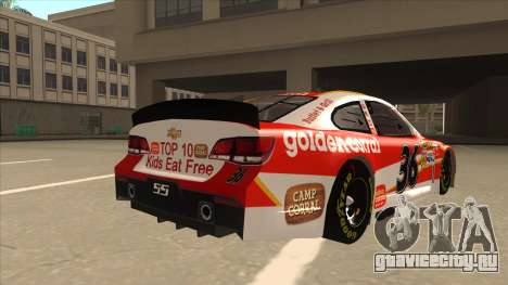 Chevrolet SS NASCAR No. 36 Golden Corral для GTA San Andreas вид справа