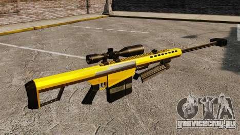 Снайперская винтовка Barrett M82 v3 для GTA 4 второй скриншот