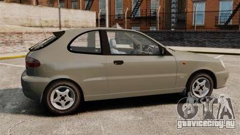 Daewoo Lanos 1997 PL для GTA 4 вид слева