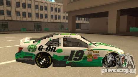 Toyota Camry NASCAR No. 19 G-Oil для GTA San Andreas вид сзади слева