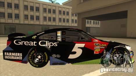 Chevrolet SS NASCAR No. 5 Great Clips для GTA San Andreas вид сзади слева