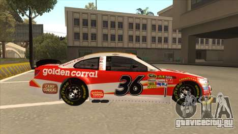 Chevrolet SS NASCAR No. 36 Golden Corral для GTA San Andreas вид сзади слева