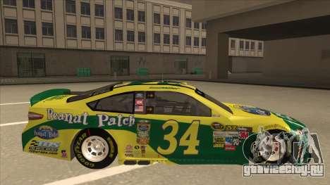Ford Fusion NASCAR No. 34 Peanut Patch для GTA San Andreas вид сзади слева