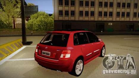 FIAT Stilo Sporting 2009 для GTA San Andreas вид справа