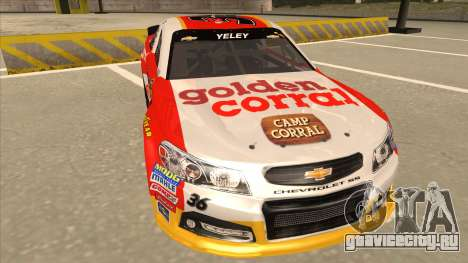 Chevrolet SS NASCAR No. 36 Golden Corral для GTA San Andreas вид слева