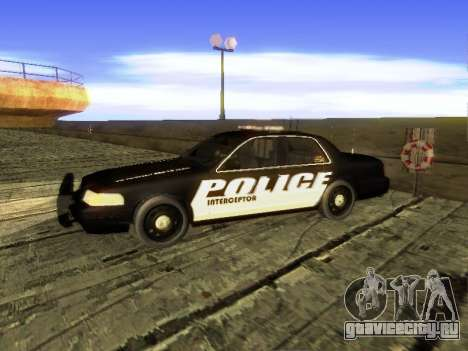 Ford Crown Victoria Police Interceptor для GTA San Andreas вид слева