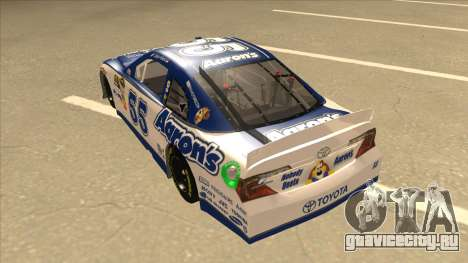 Toyota Camry NASCAR No. 55 Aarons DM white-blue для GTA San Andreas вид сзади