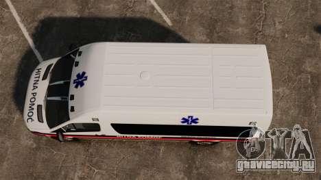 Mercedes-Benz Sprinter Zagreb Ambulance [ELS] для GTA 4 вид справа