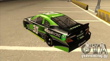 Toyota Camry NASCAR No. 30 Widow Wax для GTA San Andreas вид сзади