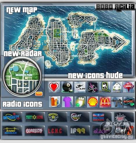 Map-Radar-HUD Pack для GTA 4