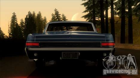 Pontiac Tempest LeMans GTO Hardtop Coupe 1965 для GTA San Andreas вид изнутри