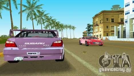 Subaru Impreza WRX v1.1 для GTA Vice City вид сбоку