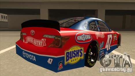 Toyota Camry NASCAR No. 47 House-Autry для GTA San Andreas вид справа
