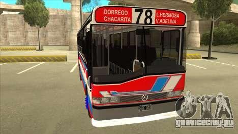 Mercedes-Benz OHL-1320 Linea 78 Los Andes для GTA San Andreas вид слева