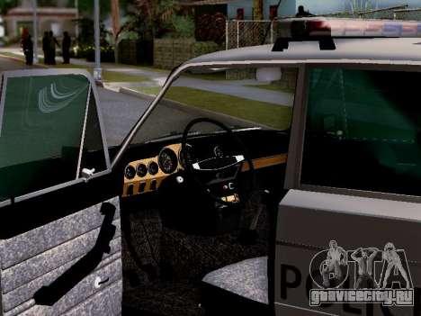 ВАЗ 2106 Полиция Лос Сантос для GTA San Andreas двигатель