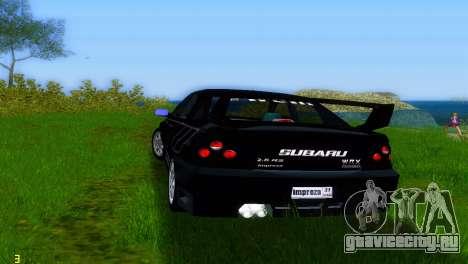 Subaru Impreza WRX v1.1 для GTA Vice City вид справа