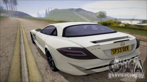 Mercedes-Benz SLR Mclaren для GTA San Andreas вид справа
